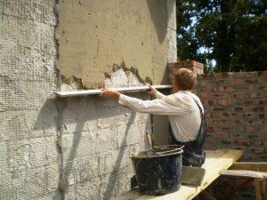 оштукатуривание бетонной поверхности цементным раствором