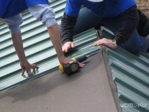Профнастил на рубероидную крышу