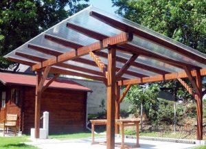 Пергола с крышей из поликарбоната