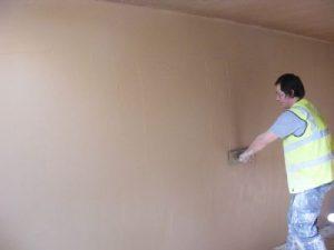 Как наносить волма слой на стену
