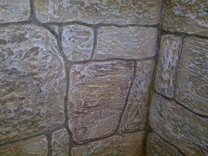 Имитация камня цементным раствором плюсы бетона