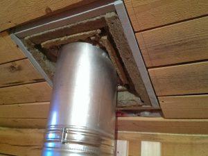 Проход сэндвич трубы через крышу
