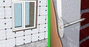Утепление наружных стен кирпичного дома пеноплексом