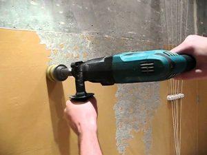 Как удалить старую масляную краску со стен