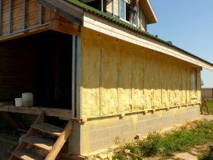 Утеплитель для стен снаружи дома на даче