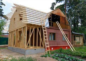 Переделка дома и крыши в загородном доме