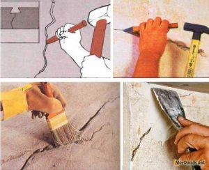 Отвалилась штукатурка на стене как заделать
