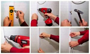 Как прикрепить кабель канал к бетонной стене