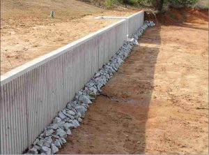 Как сделать подпорную стену