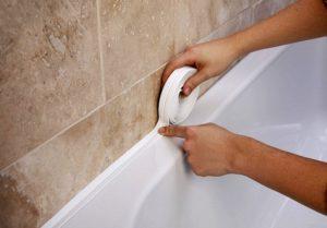Уплотнение ванны со стеной