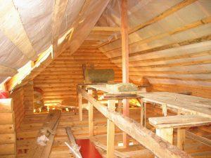 Утепление второго этажа под крышей